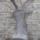 Large Grey Stag Head Bust