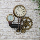 Large Industrial Pipe Clock