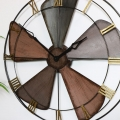 Large Industrial Vintage Fan Style Wall Clock