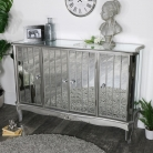 Large mirrored sideboard - Tiffany Range DAMAGED SECOND 6754
