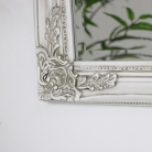 Large Ornate Antique Ivory Wall Mirror 82cm x 62cm
