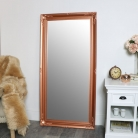 Large Ornate Copper Wall / Floor / Leaner Mirror 78cm x 158cm