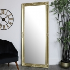 Large Ornate Gold Wall/Floor Mirror 76cm x 176cm