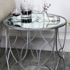 Large Ornate Silver Mirrored Side Table