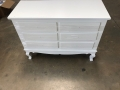 Large Ornate White 6 Drawer Chest of Drawers - Lila Range - IMPERFECT SECOND 3118
