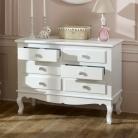 Large Ornate White 6 Drawer Chest of Drawers - Lila Range