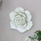 Large Ornate White Rose Wall Art