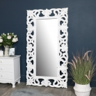 Large Ornate White Wall /Floor Mirror