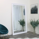 Large Ornate White Wall/ Leaner Mirror 188cm x 108cm