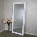 Large Ornate White Wall/Floor Mirror 176cm x 76cm