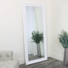 Large Ornate White Wall/Leaner Mirror 176cm x 76cm
