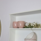 Large Pale Cream Wall Shelf with Heart Drawer Storage