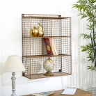 Large Rectangle Copper Wire Shelving Unit