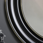 Large Round Black Wall Mirror 86cm x 86cm