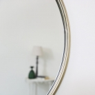 Large Round Champagne Gold Wall Mirror 70cm x 70cm