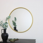 Large Round Gold Wall Mounted Mirror 70cm x 70cm