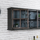 Large Rustic Industrial Metal Wall Cabinet