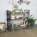 Large Rustic Industrial Trolley with Shelves