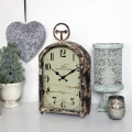 Large Rustic Mantel Clock