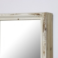 Large Rustic Mirrored Wall Shelf