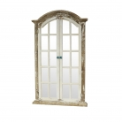 Large Rustic Shutter Style Window Mirror 73cm x 123cm