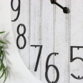 Large Rustic White Wall Clock