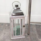 Large Rustic Wooden Candle Lantern