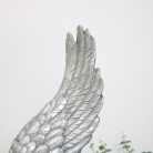 Large Silver Angel Wings Ornament