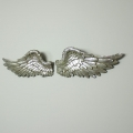 Large Silver Angel Wings