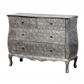 Large Silver Embossed Chest of Drawers