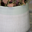 Large Tall Grey & Green Planter Pot