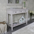Large Grey Three Drawer Sideboard/Console Table with Shelf – Daventry Taupe-Grey Range SECONDS ITEM