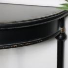 Large Vintage Half Moon Metal Console Table