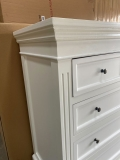 Large White Chest of Drawers - Daventry White Range - DAMAGED SECOND 1212