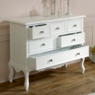 Large White Chest of Drawers - Victoria Range