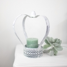 Large White Crown Planter / Candle Holder