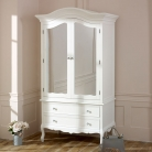 Large White Double Mirrored Wardrobe - Victoria Range
