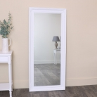 Large White Ornate Wall/Leaner Mirror 73cm x 163cm