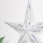 Large White Rustic Metal Barn Star