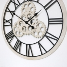 Large Wood & Metal Gear Skeleton Wall Clock