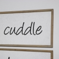 Large Wooden Cuddle Plaque
