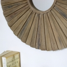 Large Wooden Sunburst Mirror