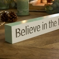 LED Christmas Sign - 'Believe in the magic…'
