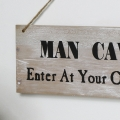 Man Cave Rustic Wooden Wall Sign