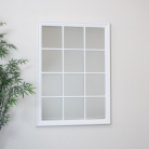 Matte White Paned Mirror 130cm x 95cm