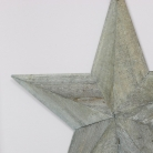 Medium Grey Wooden Barn Star 37cm x 37cm
