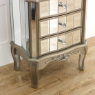 Mirrored 3 Drawer Bedside Table - Tiffany Range