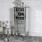Mirrored Classique Range - Tall Six Drawer Mirrored Tallboy