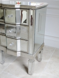 Mirrored Classique - Three Drawer Bedside Chest