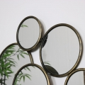 Multi Circle Gold Mirror